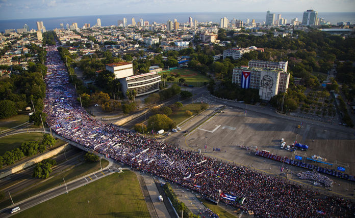 1. Mai Demonstration Havanna